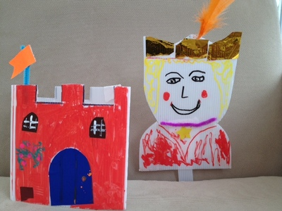 castle, king, craft, preschooler, kids, model