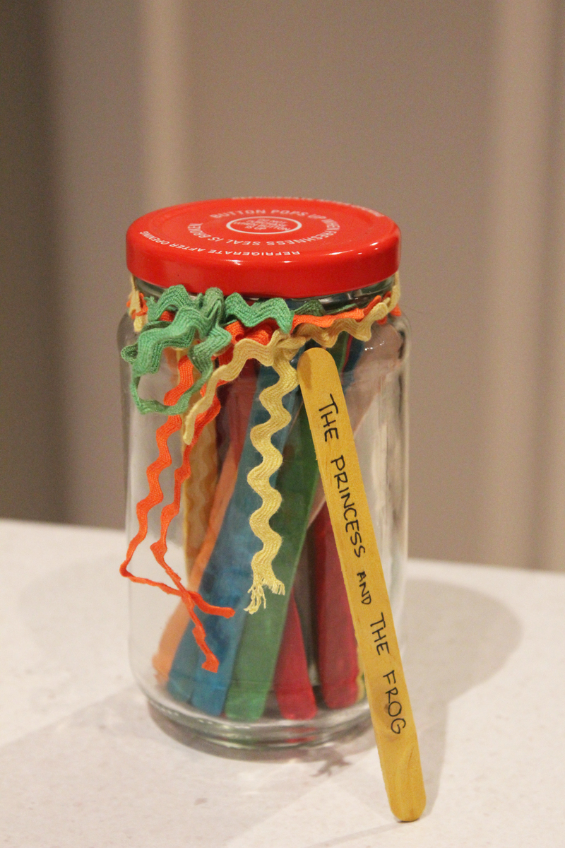 charades, date night jar, charades popsicle stick, portable charades game, fun family activities, popsicle crafts  - Popsicle Stick Charades Jar