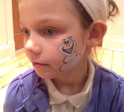 Child, face paint, Olaf, Frozen, Disney