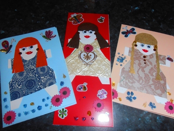 children's cards  - Paper Doll Card