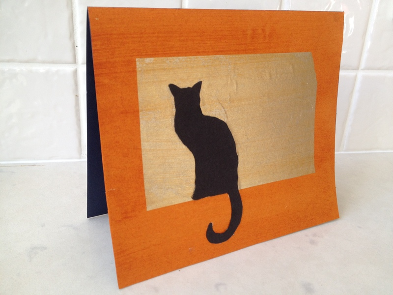 chinese joss paper cat picture, cat silhouette, cat card, black cat card