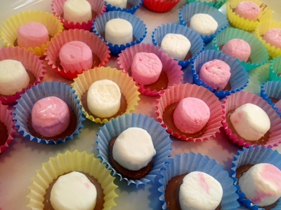 chocolate marshmallow top hats easy kids birthday party food