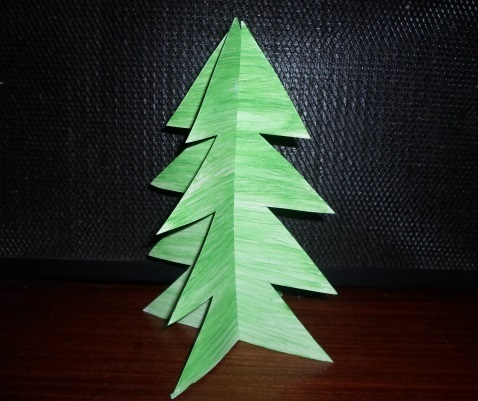 christmas, tree, christmas tree, craft, paper, cardboard, activity