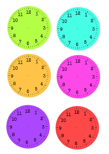 Printable New Year Clock Faces - My Kid Craft