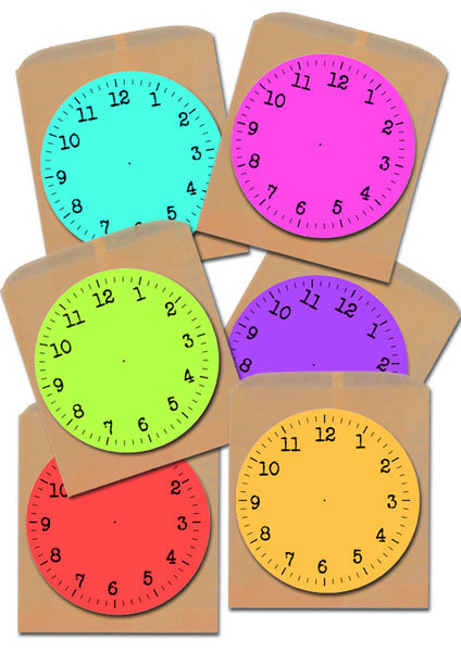 graphic relating to Printable Clock Faces for Crafts identify Printable Fresh new Calendar year Clock Faces - My Child Craft