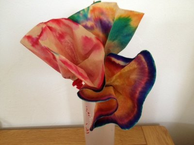 coffee filter, flower, mothers day, present, gift, felt tip pens, children, kids