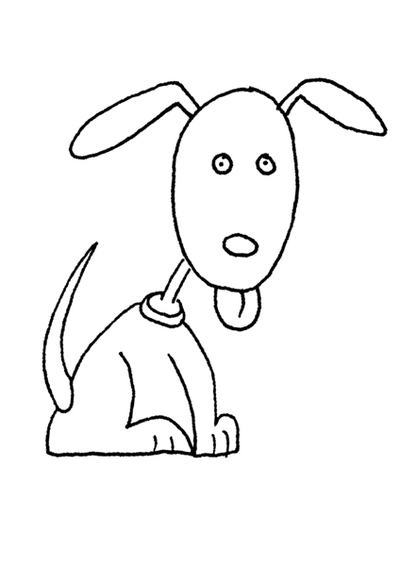 colouring page,free printable,dog