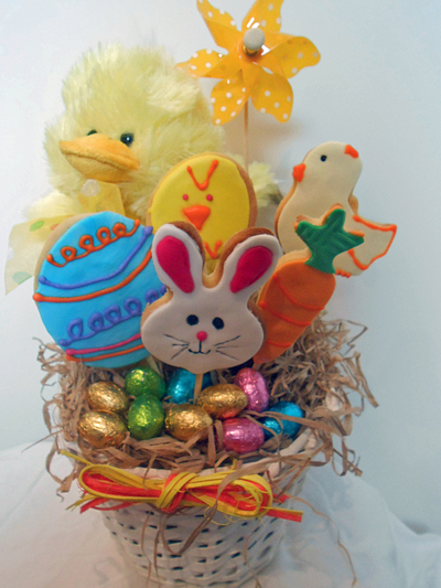 Easter basket gift my kid craft gift baskets cookie decorating negle Choice Image