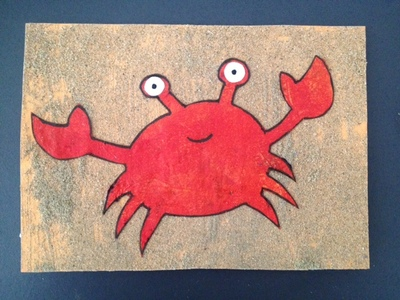 crab greeting card birthday card fathers day card homemade kids card
