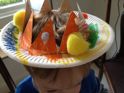 crown paper plate toddler pre school craft make your own & Paper Plate Crown - My Kid Craft