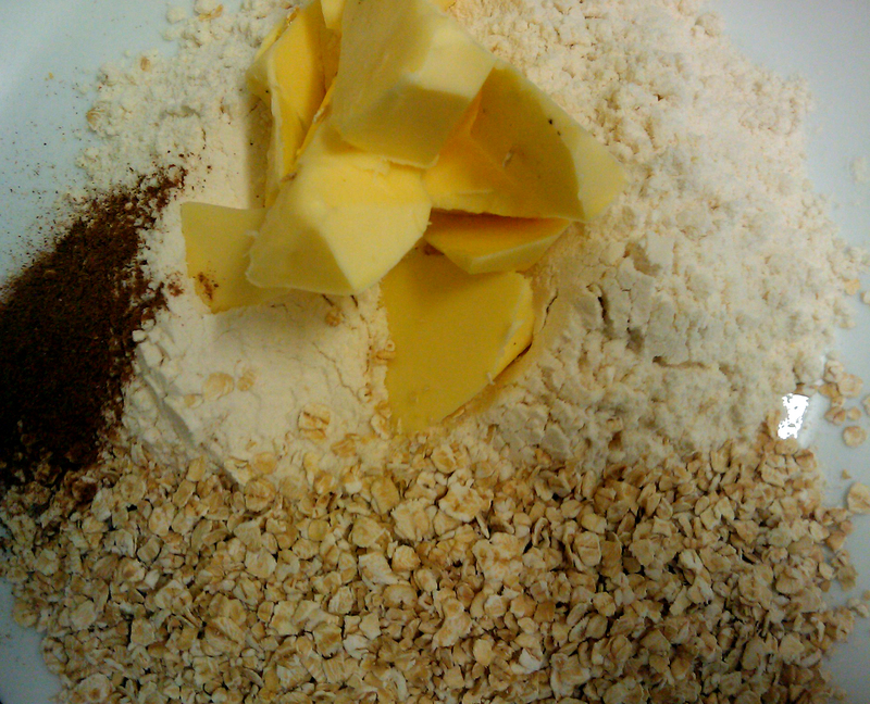 Crumble Ingredients  - Quick and Delicious Apple Crumble