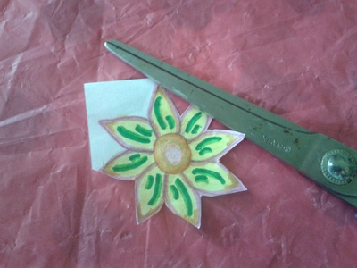 Cut the flower using scissors
