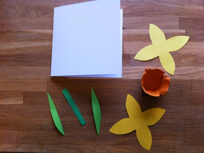 daffodil, paper craft, cards, Easter, Mothers day, egg box