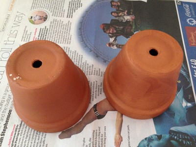 Decorated pot, decorated terracotta pot, kids craft garden, sharpies terracotta pot
