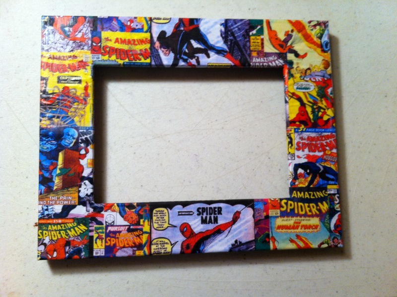 decoupaged frame  - Decoupage Spider-Man Picture Frame