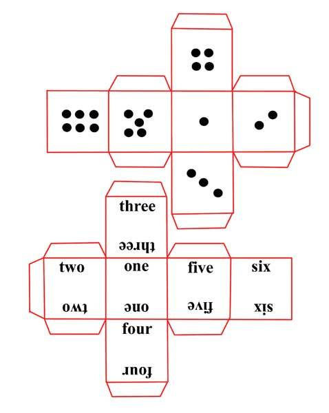 dice,numbers,game,paper dice - Paper Printable Dice to Make - Image 1