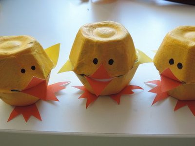 This Is A Fun And Great Easter Craft For The Kids Using Egg Cartons Create Some Cute Chicks Bunny To Add Your Decorations