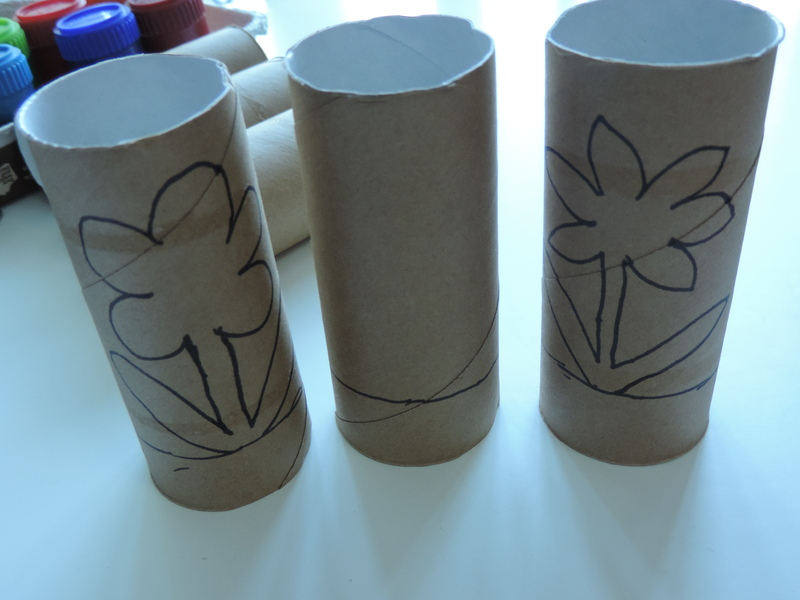 Toilet Roll Spring Flowers
