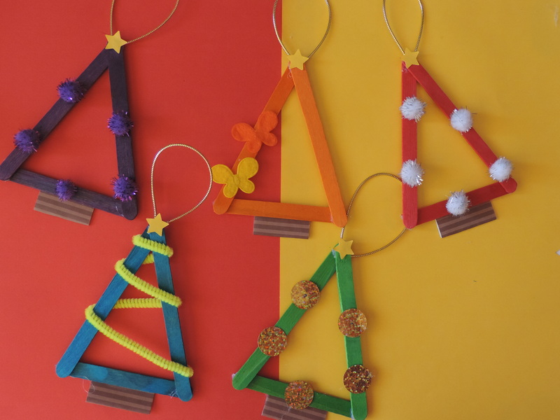 Popsicle Christmas Tree Ornament