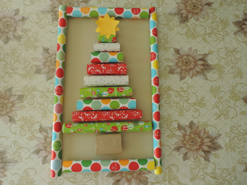 Wrapping paper Christmas wall decor