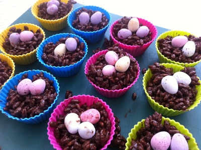easter, chocolate, crispy, nest, egg, children, cooking, kid, craft, pre school, activity
