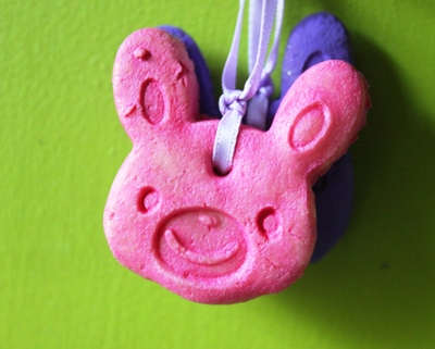 Easter decorations, salt dough, handmade