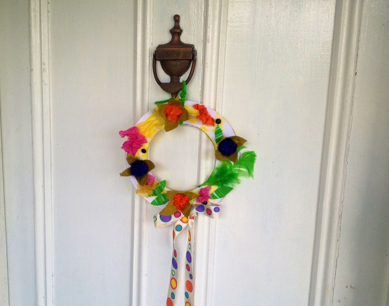 easter wreath door decoration kids craft spring - Easter Wreath Door Decoration - Image 12 & easter wreath door decoration kids craft spring - Easter Wreath Door ...
