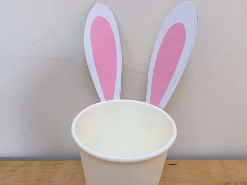 Easter, bunny, basket, cup, craft, easy