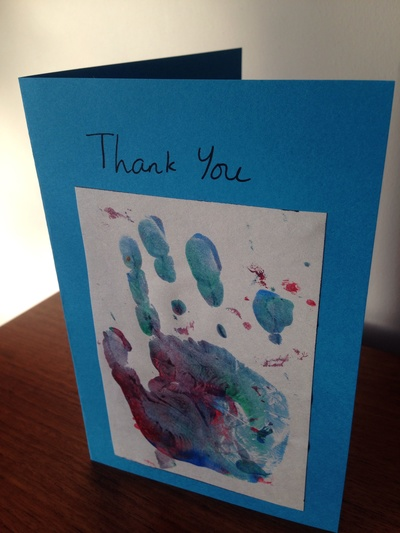 Hand Print Thank You Card My Kid Craft