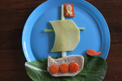 Edible Pirate ship, children