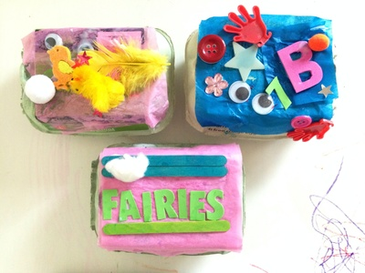 Egg carton craft for kids, recycled kids craft