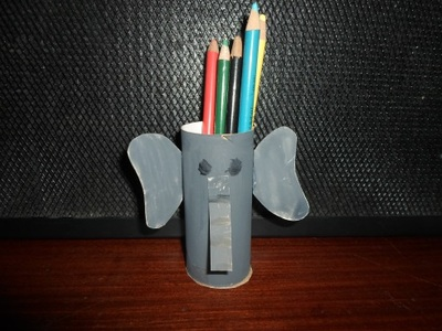 elephant pencil holder, pencil holder craft, elephant craft, toilet roll craft, elephant raft for kids