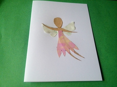 fairy birthday card kids craft princess greeting card