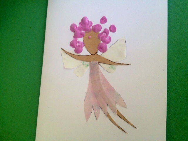 Fairy birthday card kids craft princess greeting card for Fairy crafts for toddlers