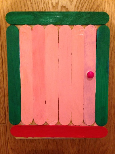 fairy door, popsicle stick fairy door, homemade fairy door, how to make a fairy door