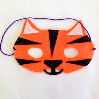 Felt tiger mask mask tutorial how to make a tiger mask easy tiger & Easy Felt Tiger Mask - My Kid Craft
