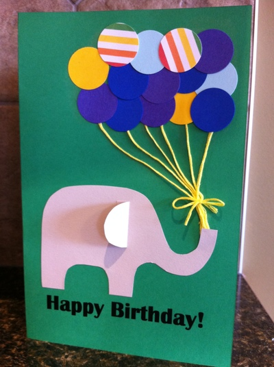 Paper punch balloon birthday card my kid craft final card bookmarktalkfo Images