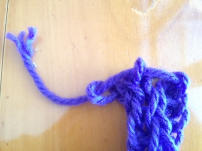 finishing off finger knitting loops