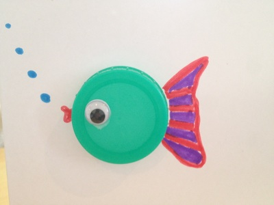 Fish, card, bottle cap