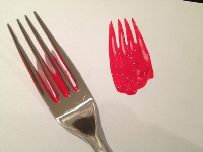 Fork, print, flower, mothers day