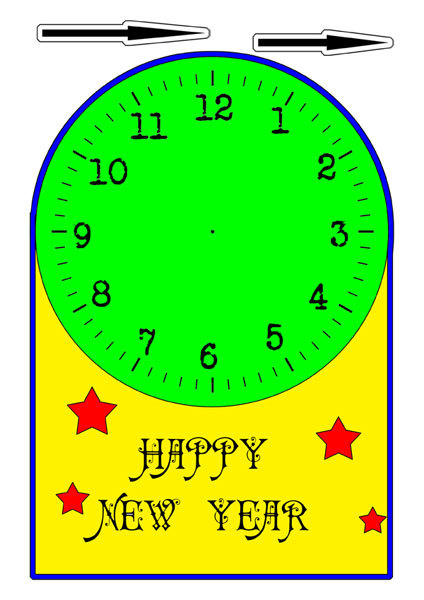 free printable,clock,new years