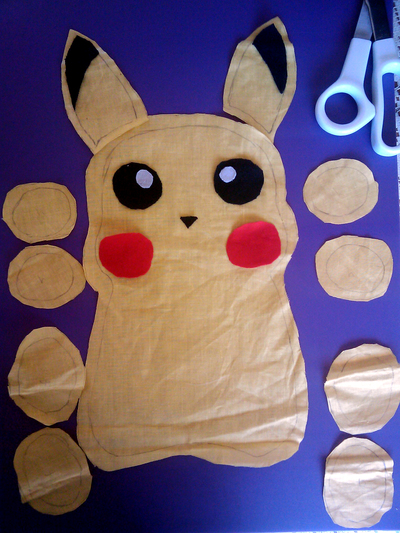Pikachu cut out
