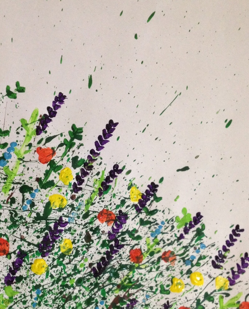 Splatter Flower Painting My Kid Craft