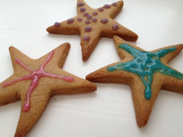Gingerbread Man Men Ginger Stars Golden Syrup Writing