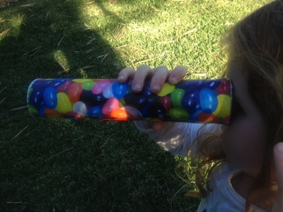 girl kaleidoscope, kids craft kaleidoscope, make your own kaleidoscope, kaleidoscope how to make, preschooler kaleidoscope, kids science craft, jellybean kaleidoscope