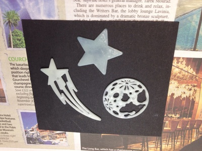 Glow stencil, glow star stencil, homemade space stencil, glow star art kids
