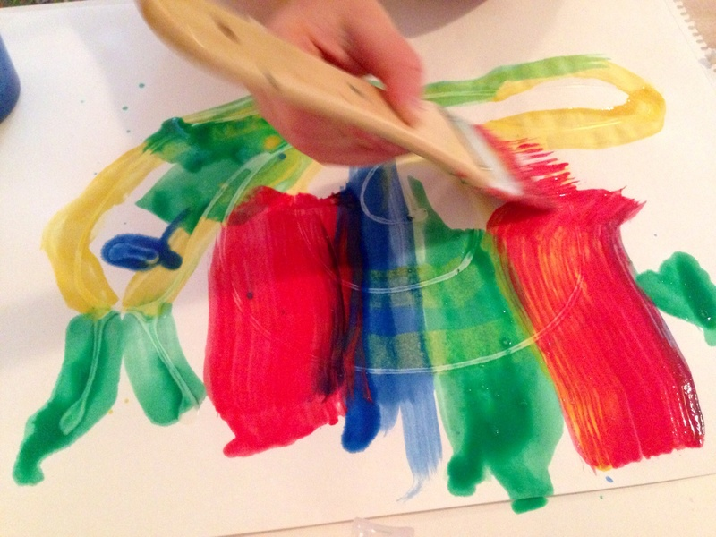 Glue trail pictures, glue art, painting on glue, kids glue pictures, kids craft ideas  - Rainbow Glue Trail Pictures