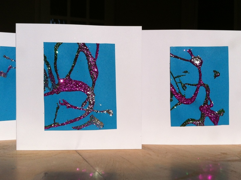 Greeting card glitter paper craft any age glue for Image craft greeting cards