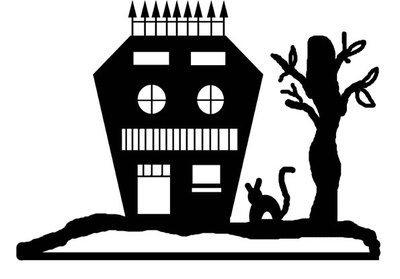 halloween craft,haunted house pop up