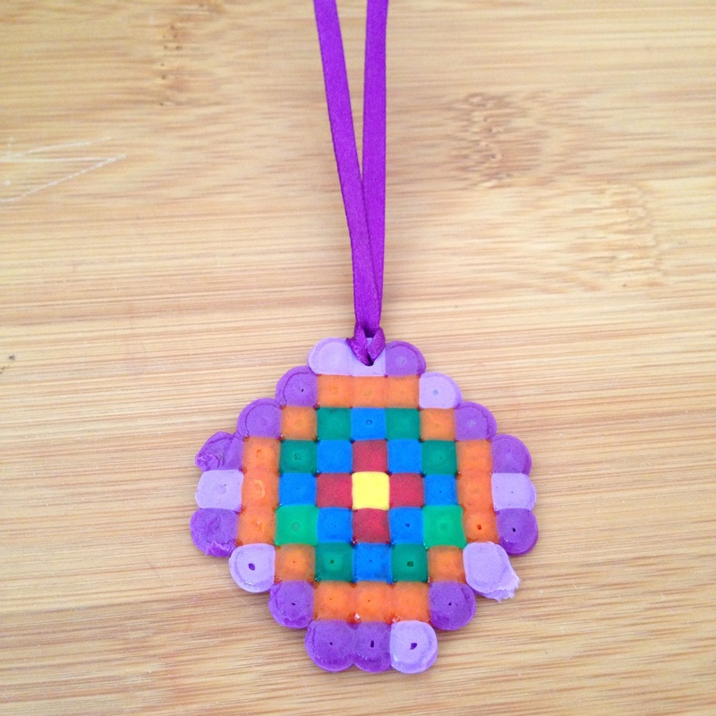 hama bead medallion my kid craft